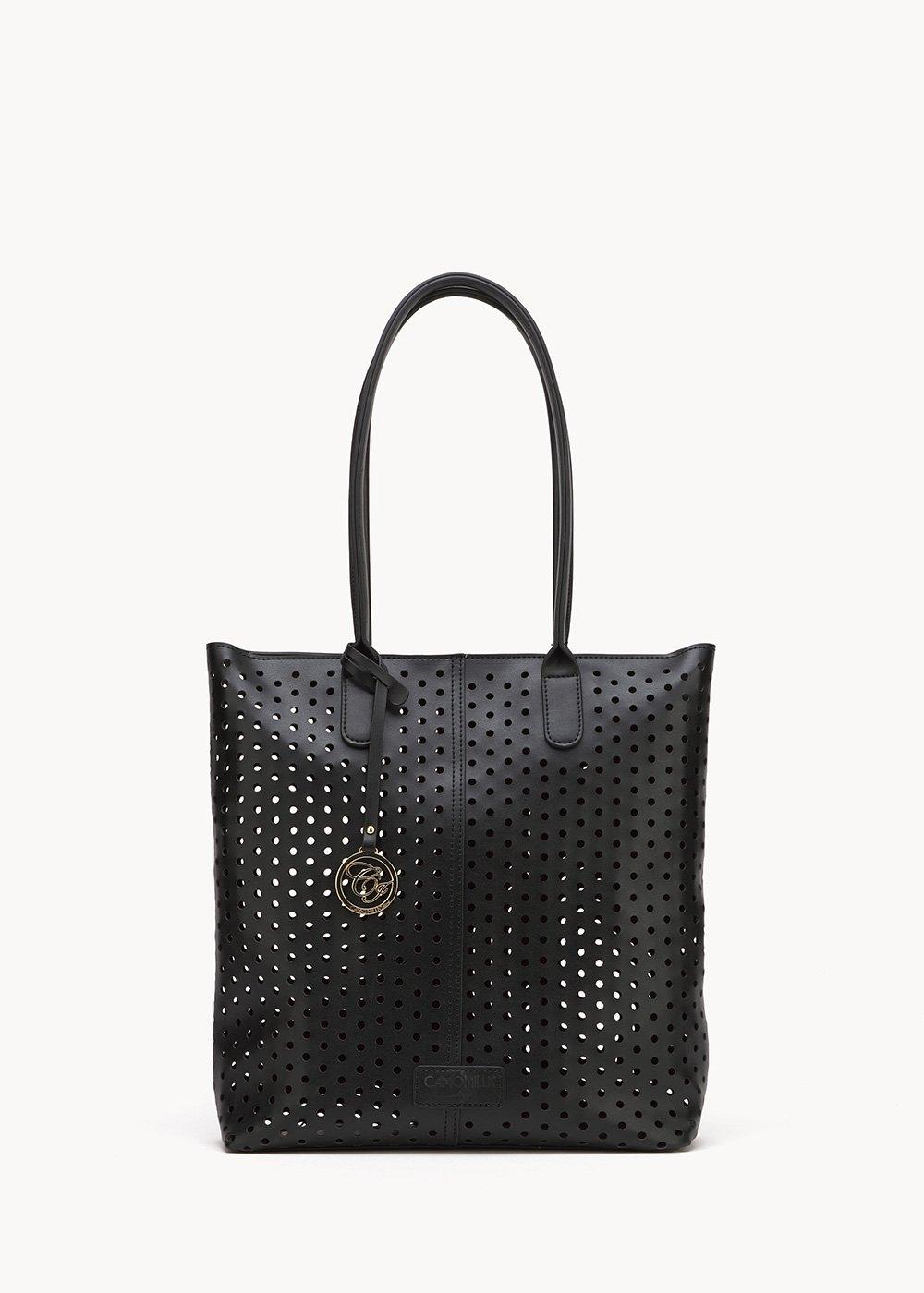 Shopping bag Blyth traforata - Black - Donna