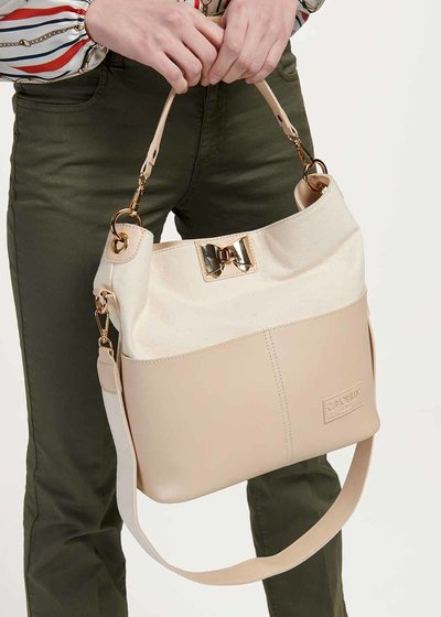 Brittny two-tone canvas bag