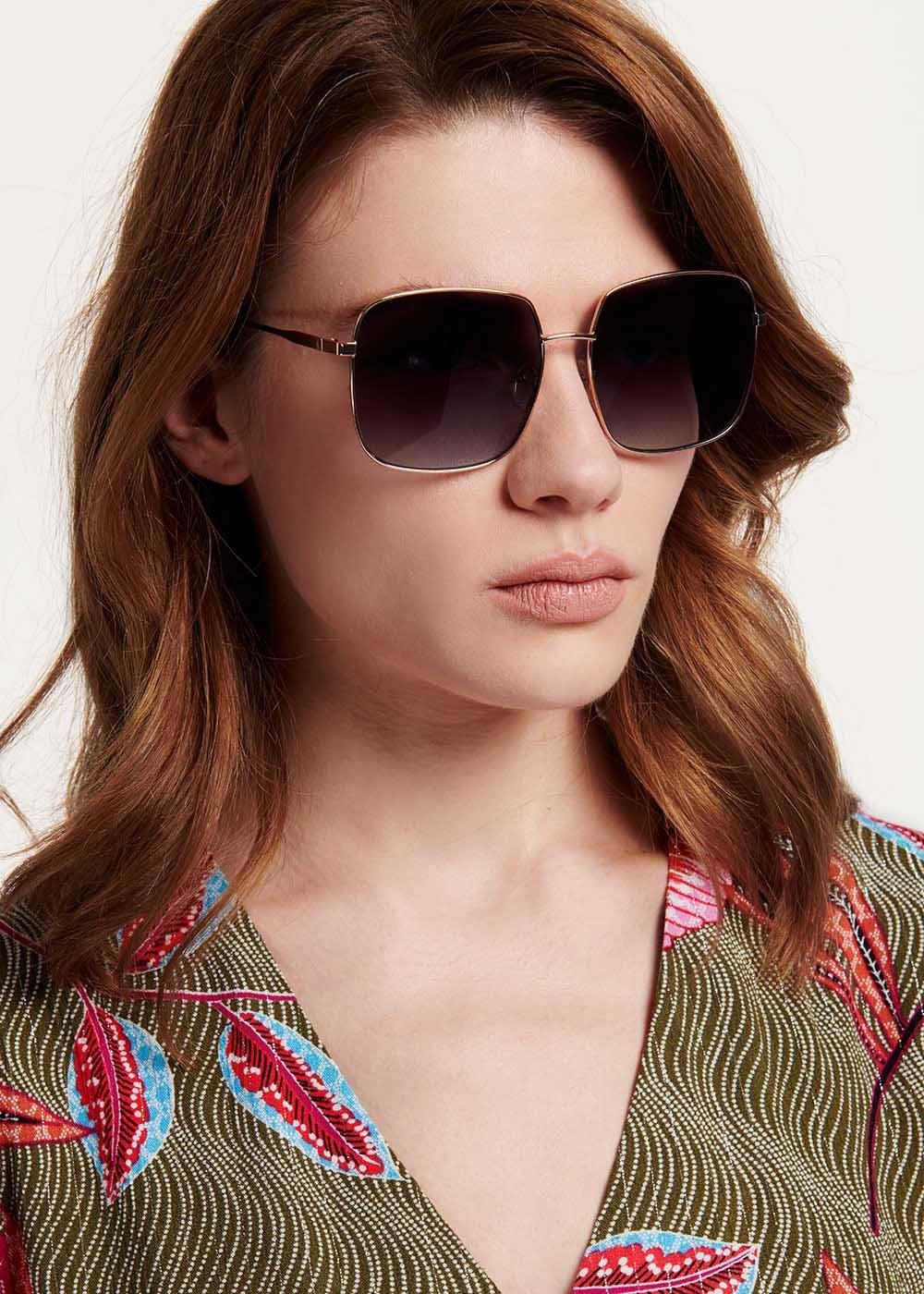 Square sunglasses - Cocoa - Woman