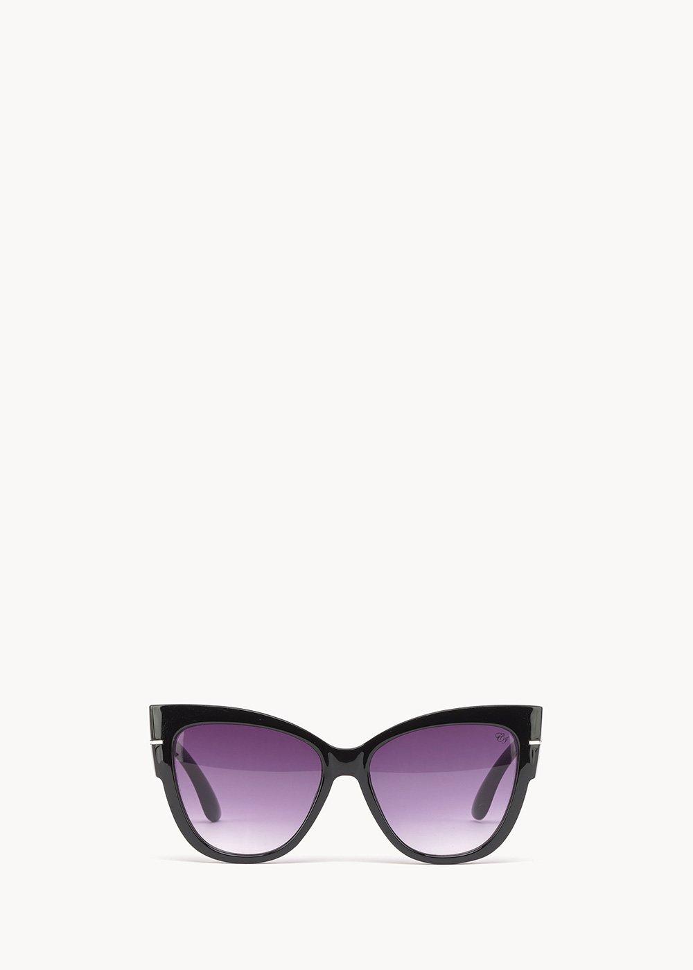 Oversized cat model glasses - Black - Woman