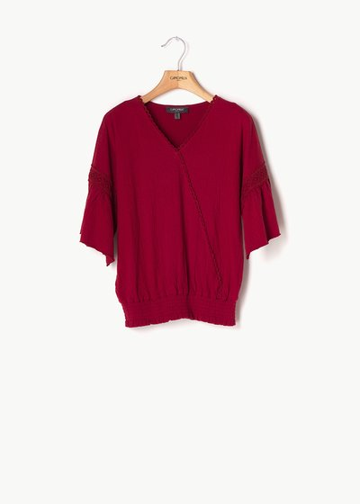Sofia crisscross cotton shirt