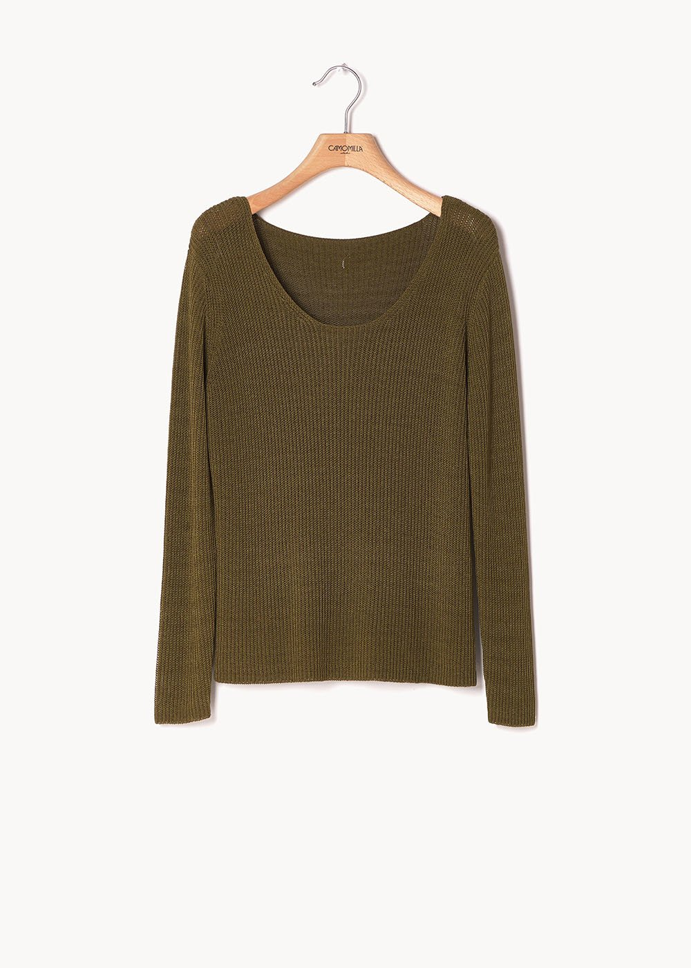 Maret cotton yarn sweater - Green - Woman