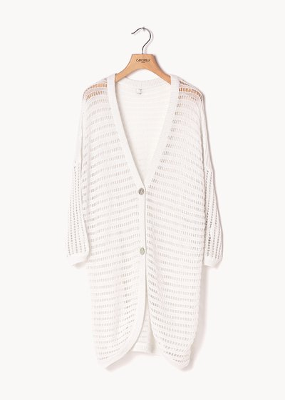 Colby openwork cotton yarn cardigan