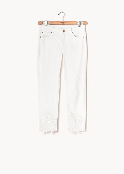 Porthos denim with lace detail