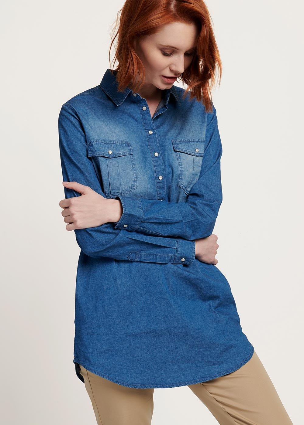 Cassy denim shirt - Denim - Woman