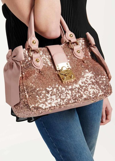 Betsy bag with sequins and bows