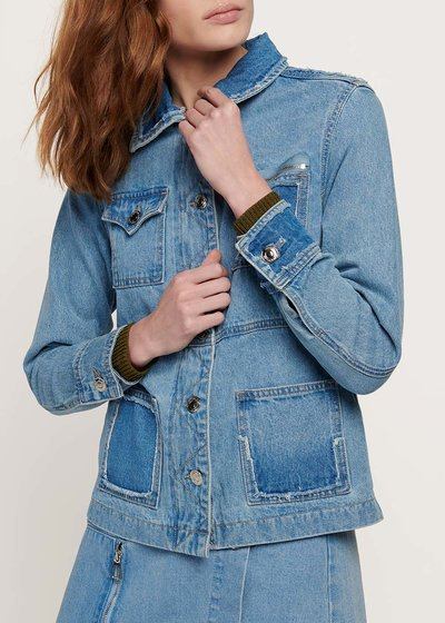 Gyl denim jacket with double pockets