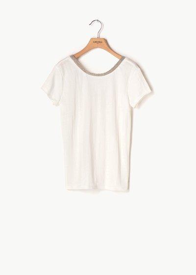 T-shirt Sael scollo tondo