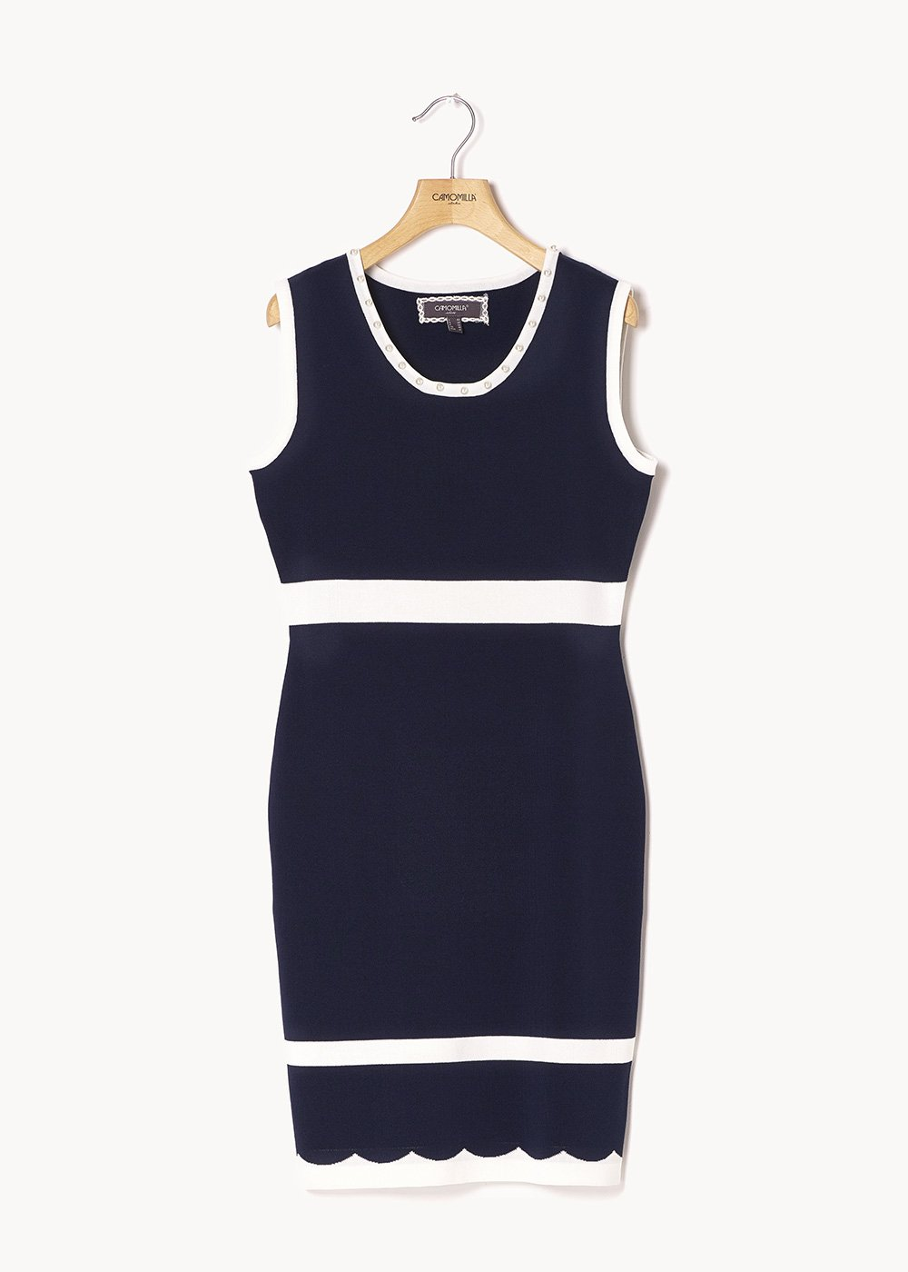 Alvin two-tone dress - Medium Blue / White - Woman