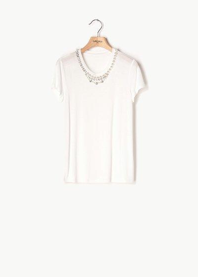 T-shirt Selena con dettaglio perle