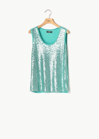 Top Timon di paillettes
