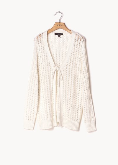 Cardigan Caddy traforato bianco