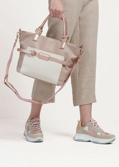 Backy two-tone handbag