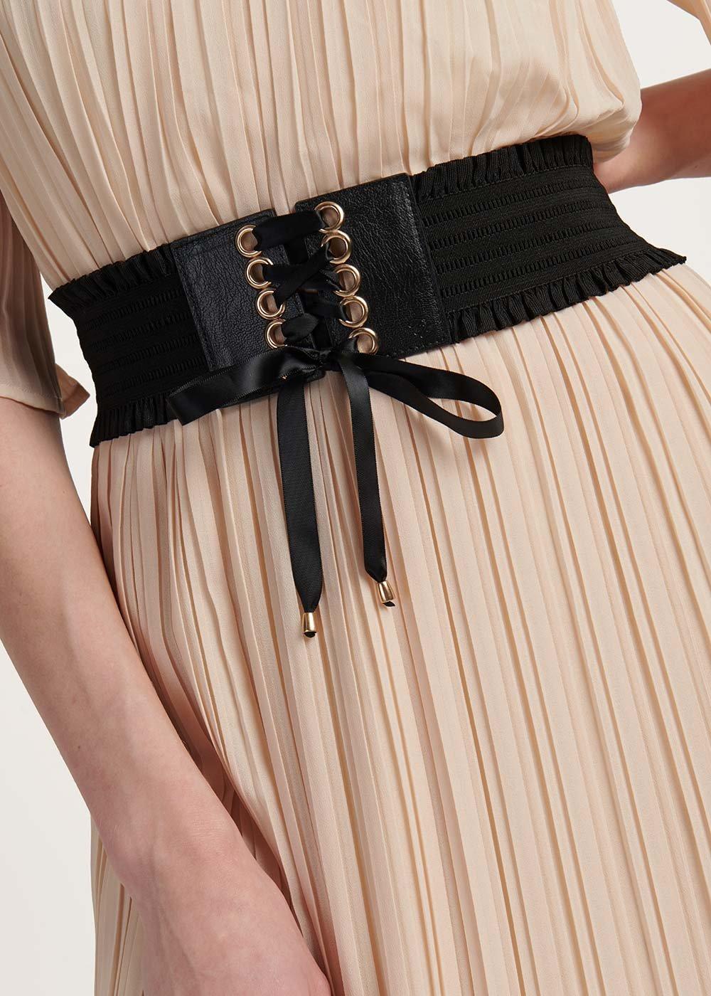 Cintura Cris modello bustino - Black - Donna