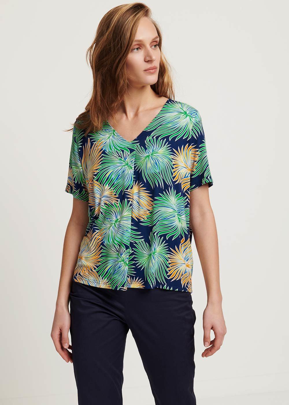 T-shirt Sainoha fantasia tropical - Medium Blue /  Tropical /  Fantasia - Donna