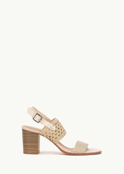 Sher sandal with crochet band