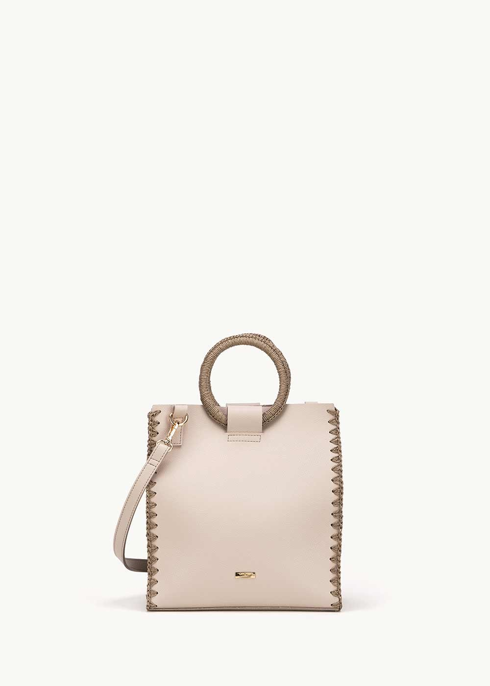 Bryan small bag with circular handles - Taupe - Woman