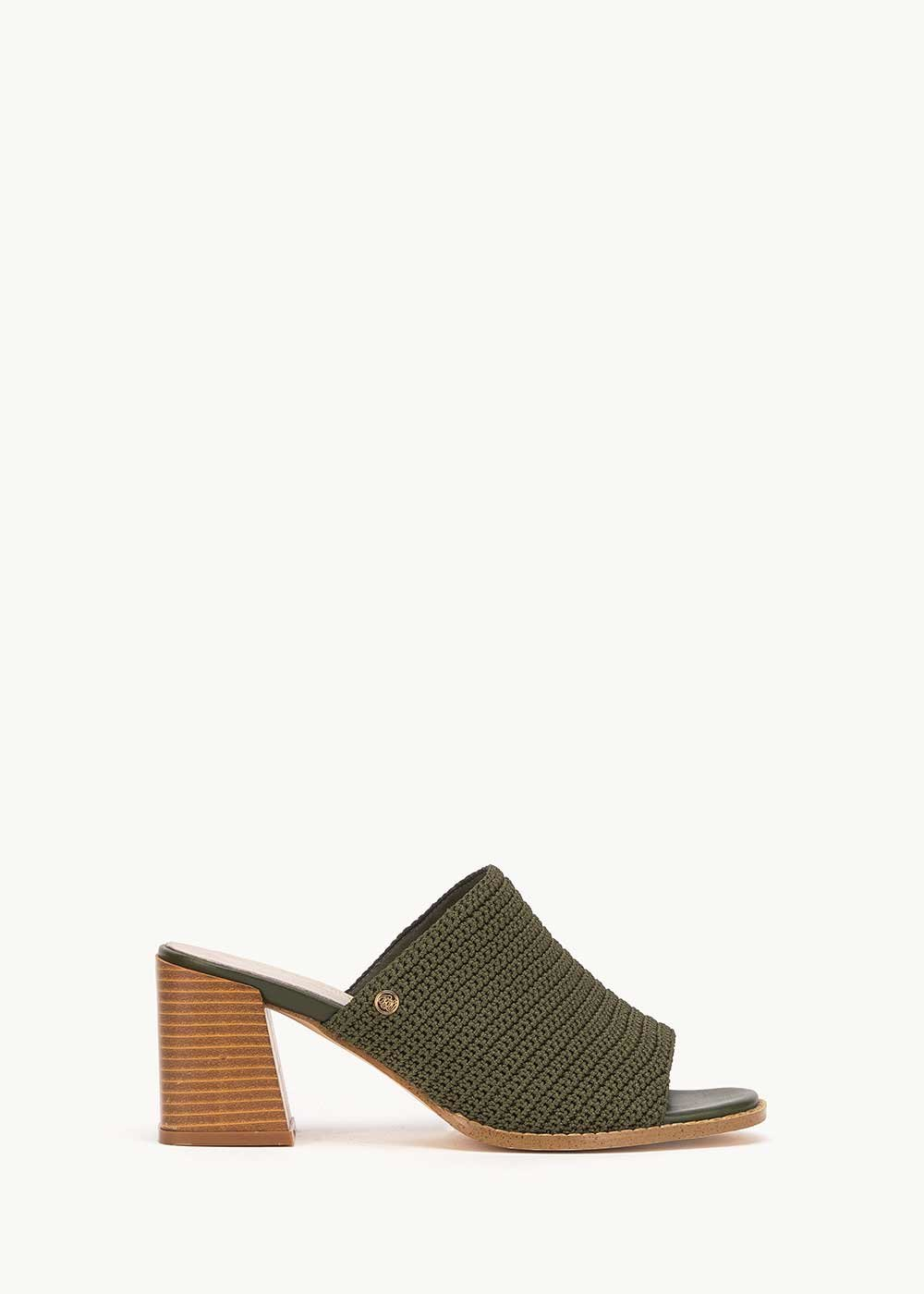 Sherry mules with rhinestones - Green - Woman
