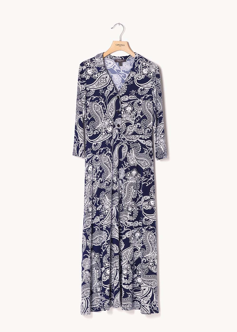 Angelyn patterned dress - Blu / White / Fantasia - Woman