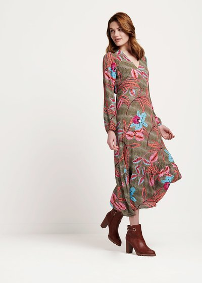 Ashlie dress with floral pattern