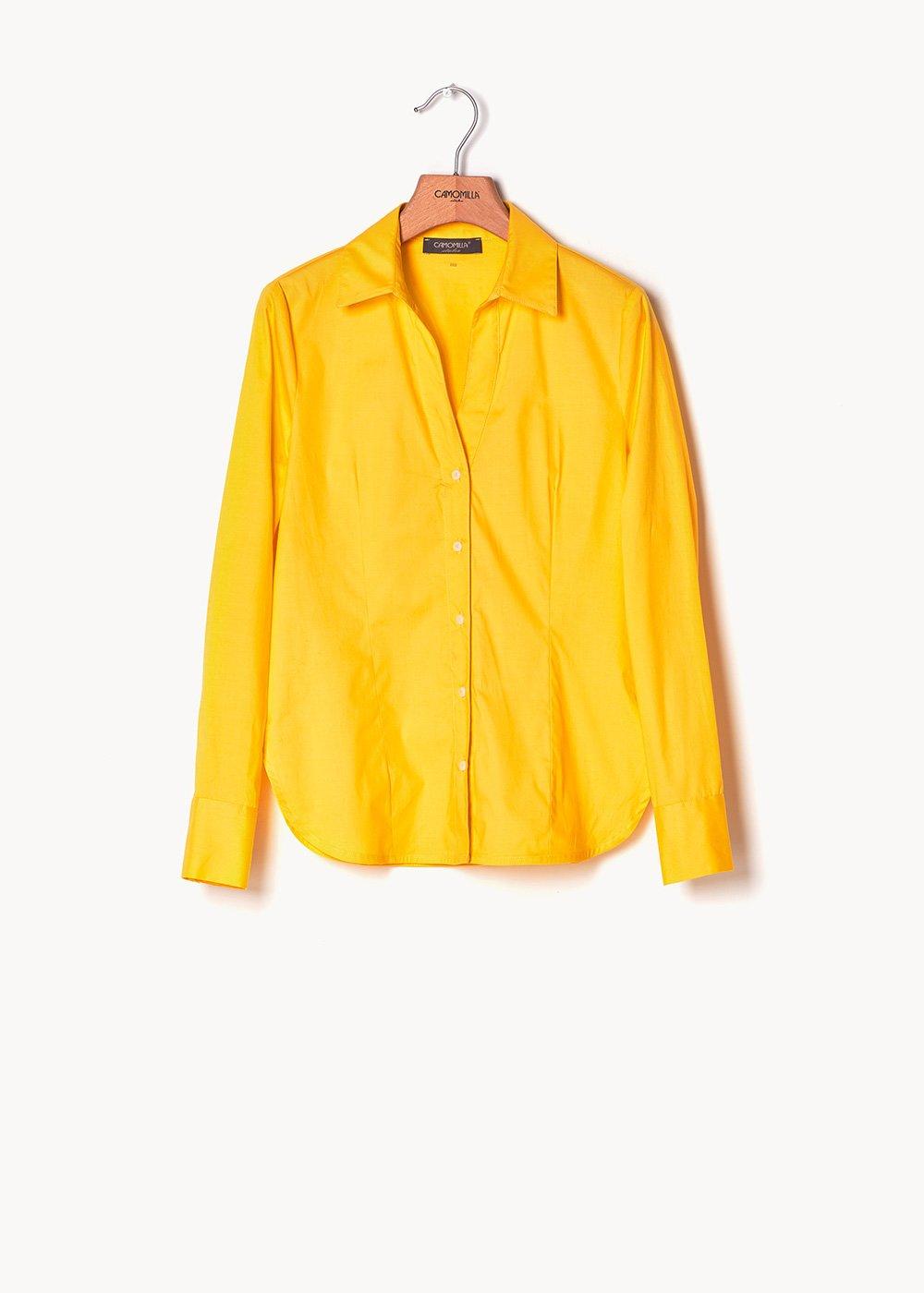 Carolina shirt in cotton poplin - Sole - Woman