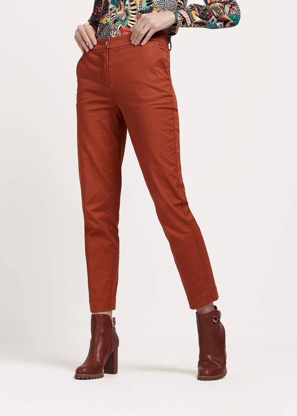 Pantalone modello Alice colore cannella - Cannella - Donna