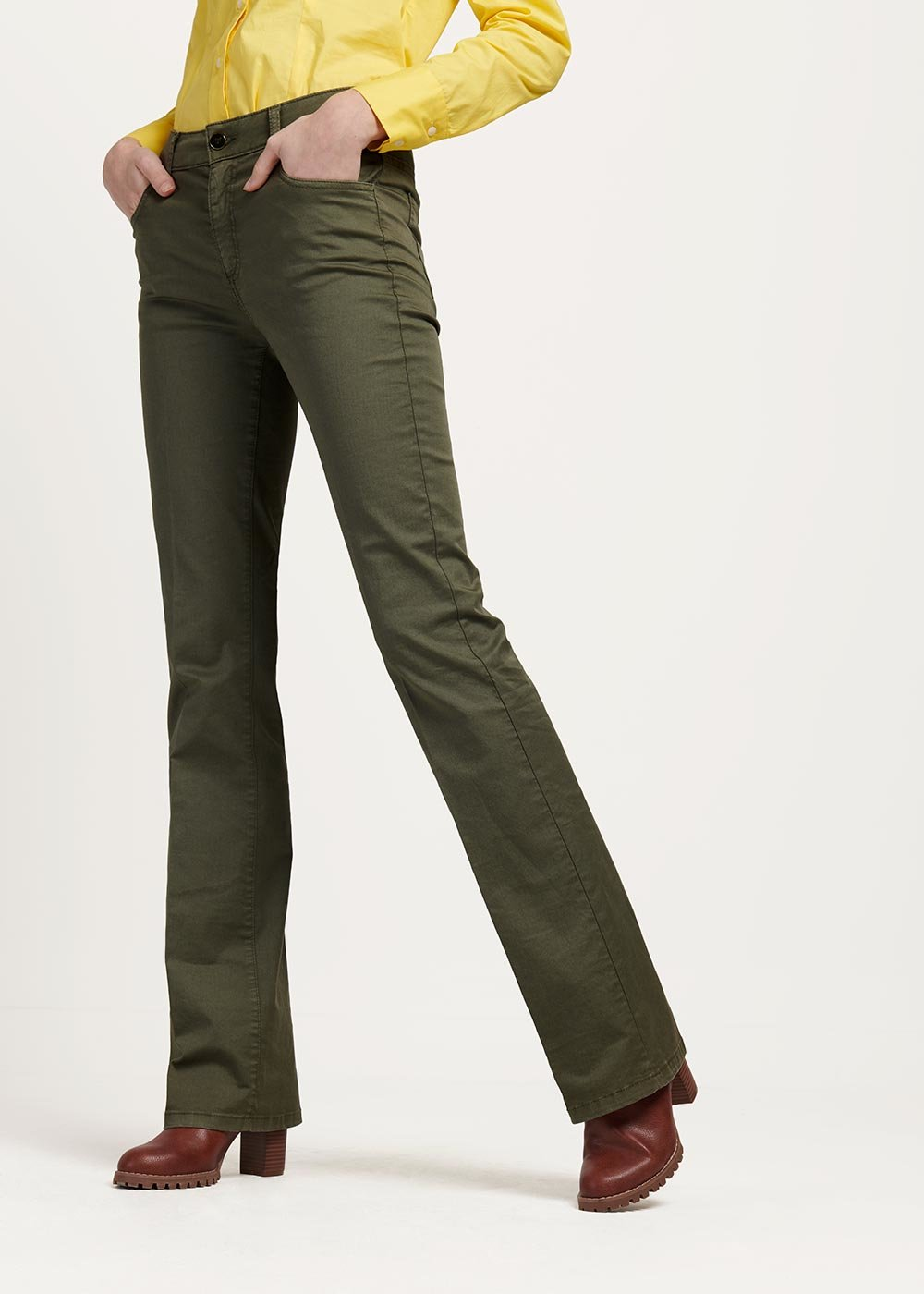 Thyme green Cindy trousers - Green - Woman