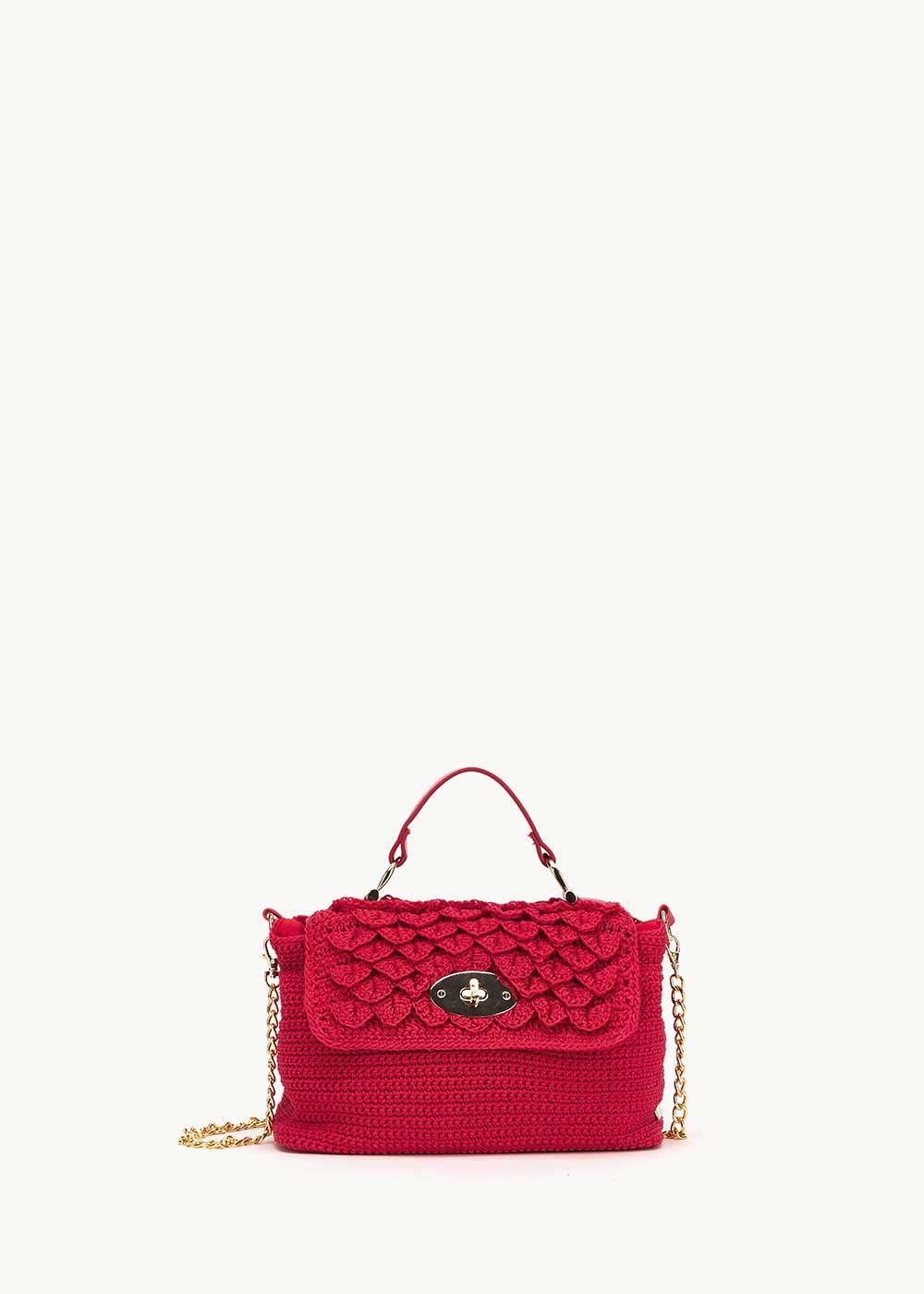 Birdie soft crochet clutch bag - Lobster - Woman