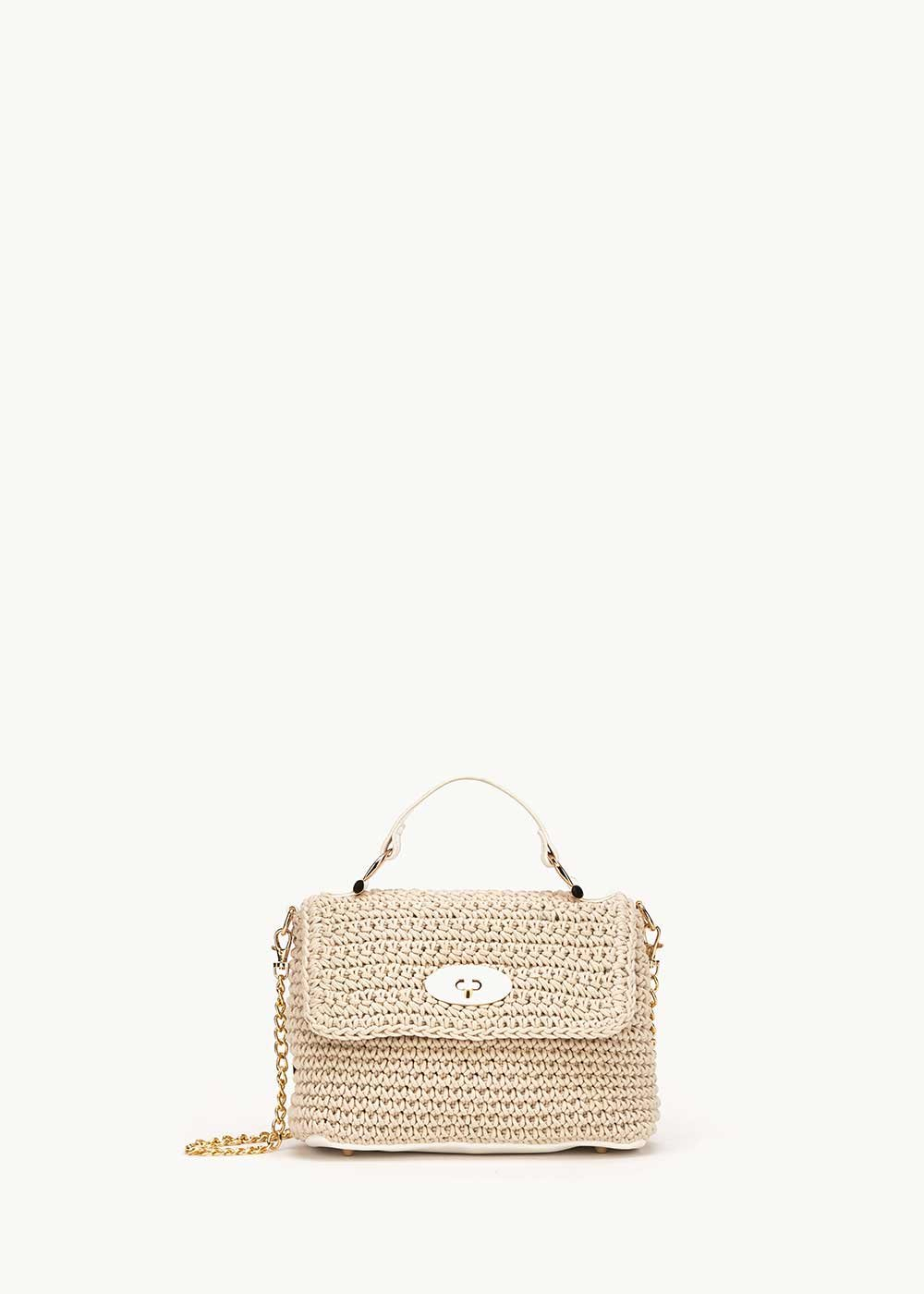 Barrie clutch bag with rope making - Light Beige / Cocco - Woman