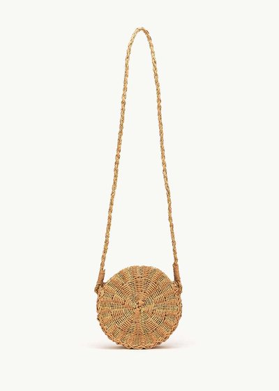 Baggy round straw bag
