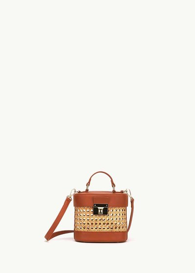 Breanne wicker basket bag