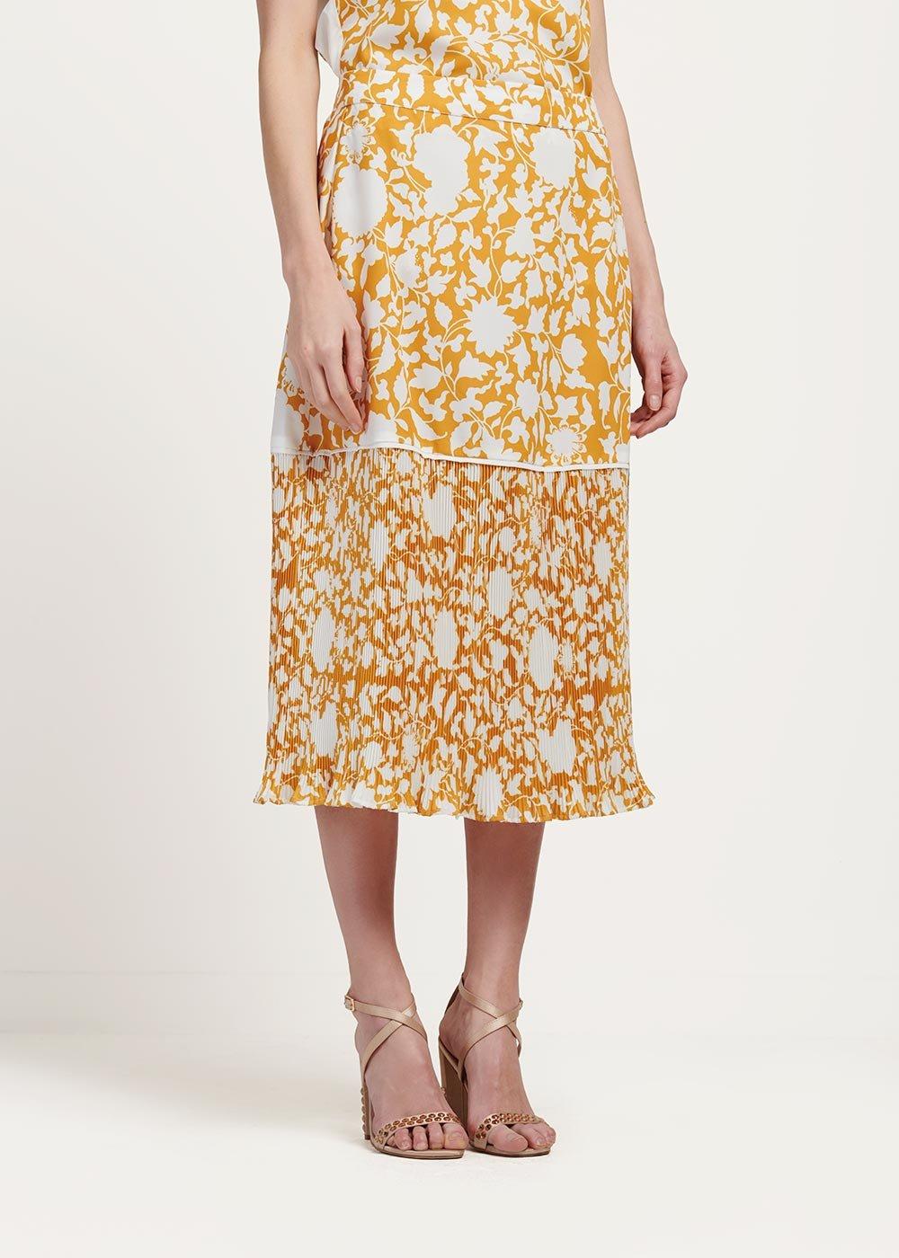 Gisel long patterned skirt - Sole\ White\ Fantasia - Woman