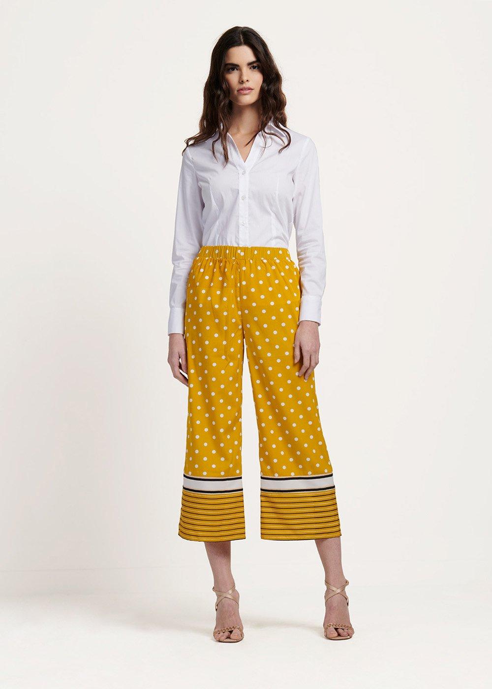 Pantalone Paride stampa pois - Sole\ White\ Pois - Donna