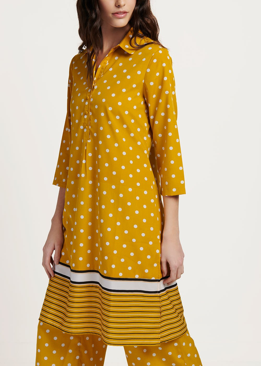 Camely shirtdress with polka dot print - Sole\ White\ Pois - Woman