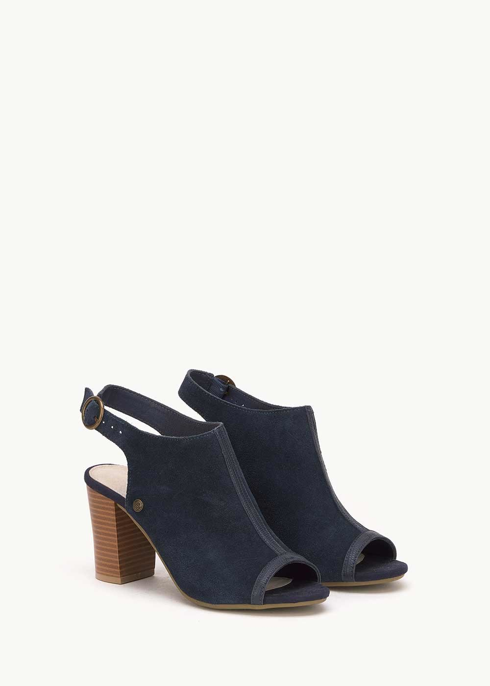Shirley open - toe sandal - Medium Blue - Woman