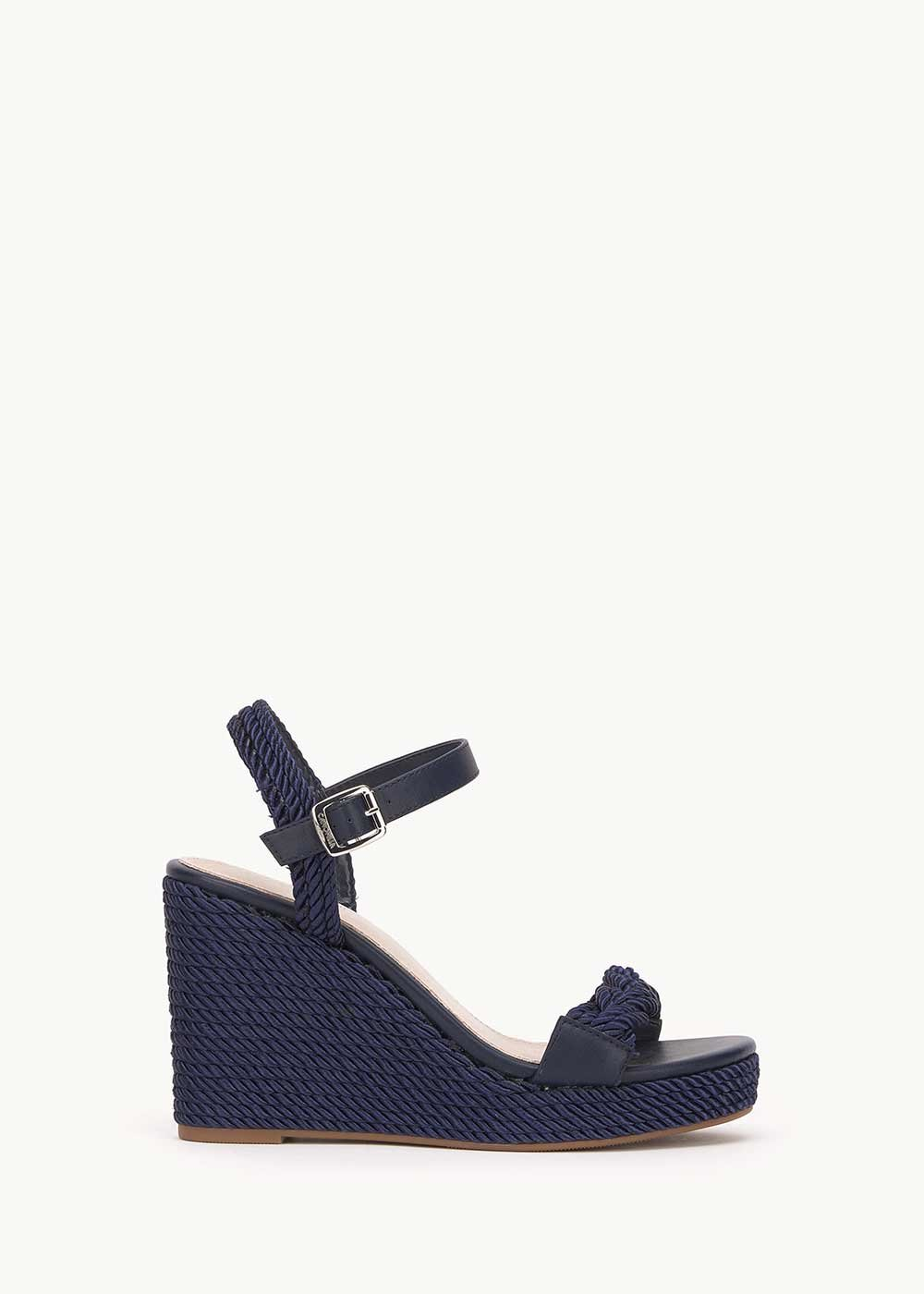Susannah sandal with rope detail - Medium Blue - Woman