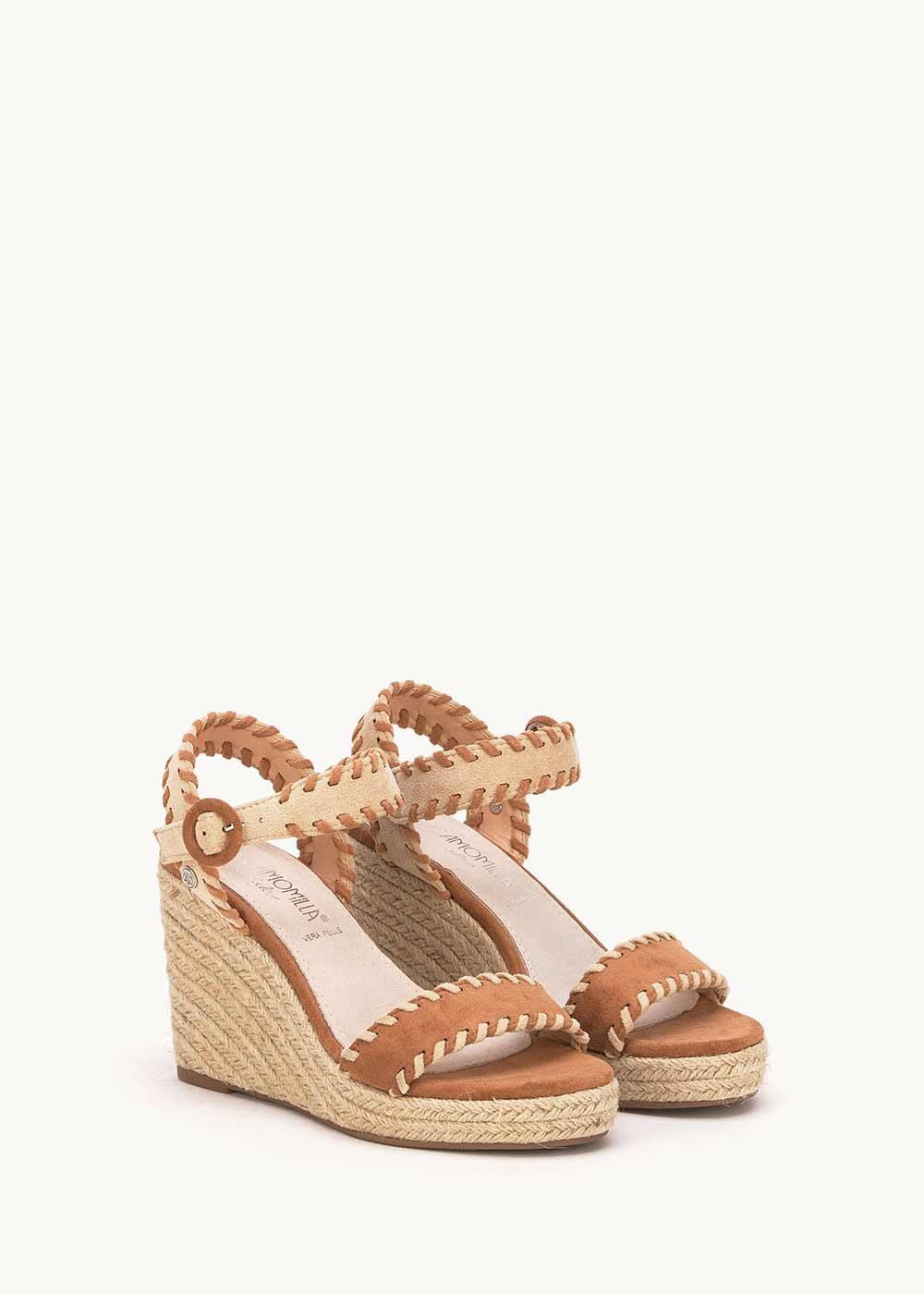Sandalo Saint con impunture a contrasto - Pecan  / Doeskin - Donna