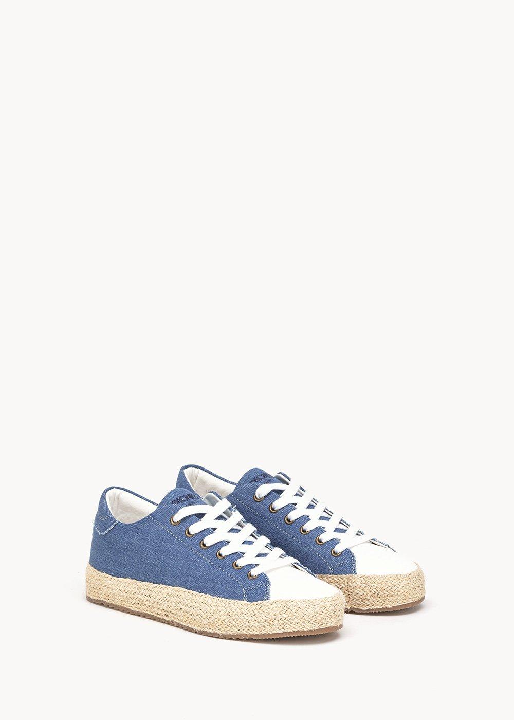 Shelly canvas shoe - Medium Blue - Woman