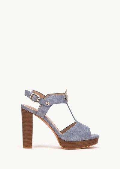 Sheilah fog-coloured sandals