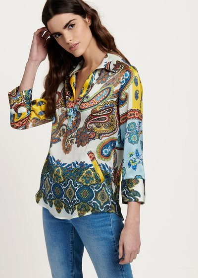 Blusa modello Angela fantasia cachemire colorata