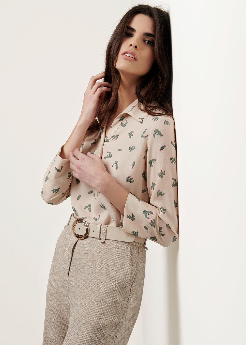 Angela shirt with cactus print