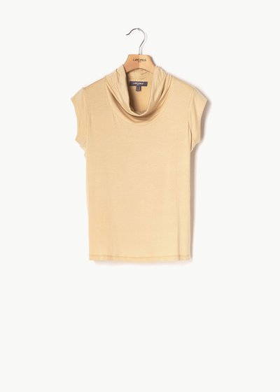Teo top with cowl neck