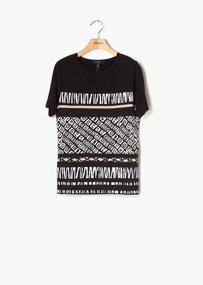 T-shirt Sefora motivo etnico