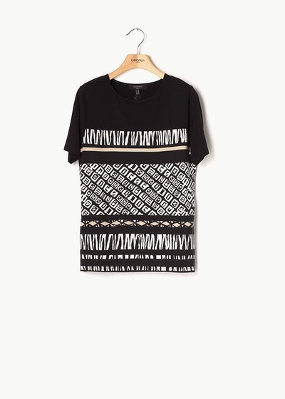 Sefora T-shirt with ethnic pattern