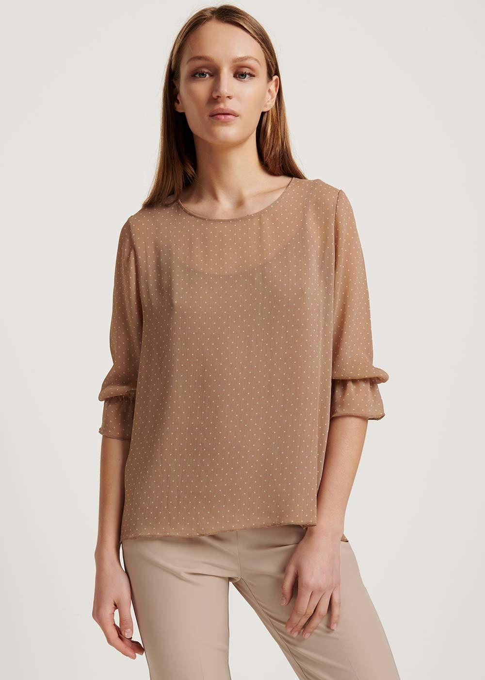 Sonia polka-dot T-shirt - Skin \ White \ Pois - Woman