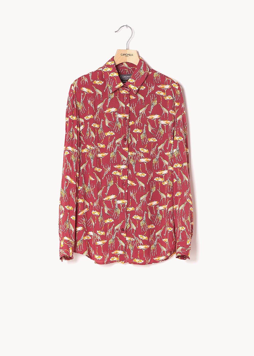 Alessia shirt with spotted print - Cannella\curcuma Fantasia - Woman