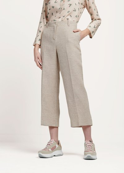 Sara trousers with rush matting-effect bustier