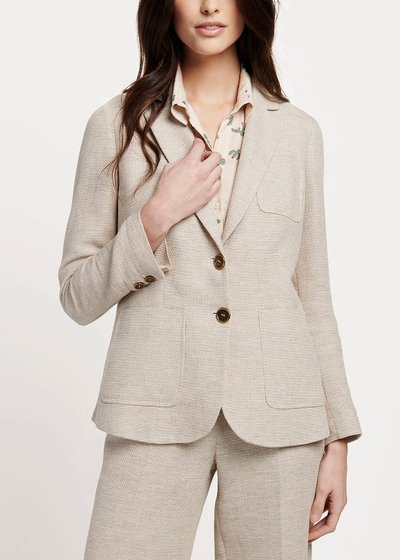 Kelly jacket with rush matting effect