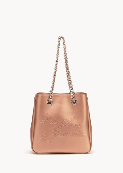 Mini Camo Girl faux-leather shopping bag with embossed logo