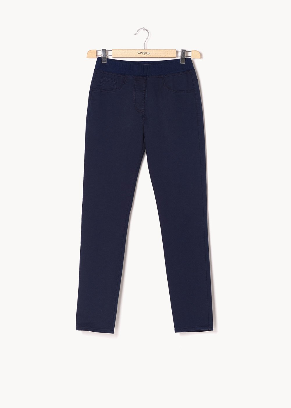 Pantaloni modello Kelly con elastico in tono - Blue - Donna